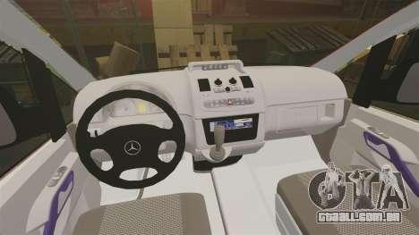Mercedes-Benz Vito Metropolitan Police [ELS] para GTA 4 vista de volta