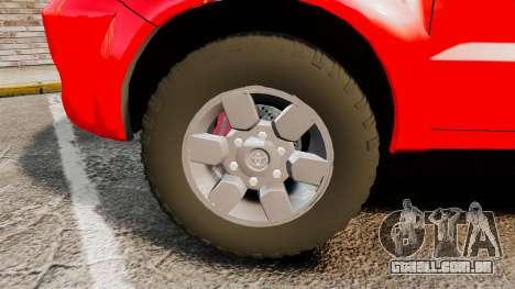 Toyota Hilux Land Forces France [ELS] para GTA 4 vista de volta