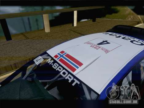 Ford Fiesta RS WRC 2013 para vista lateral GTA San Andreas