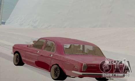 GAZ Volga 2410 Hot Road para GTA San Andreas traseira esquerda vista