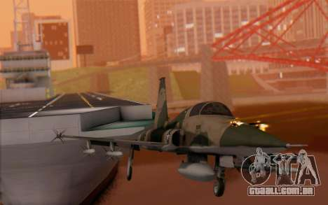 F-5 Tiger II para GTA San Andreas vista traseira