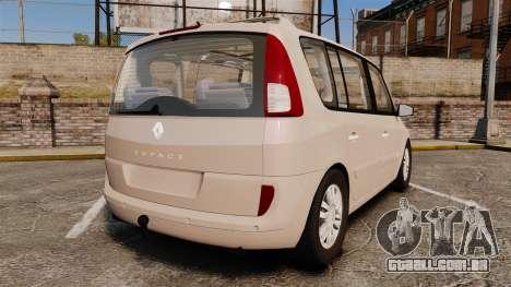 Renault Espace IV Initiale v1.1 para GTA 4 traseira esquerda vista