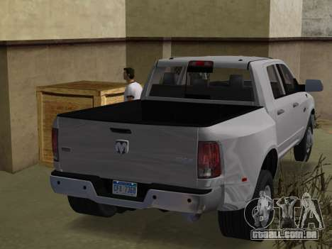 Dodge Ram 3500 Laramie 2012 para GTA Vice City deixou vista