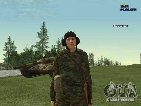 Tankman para GTA San Andreas por diante tela