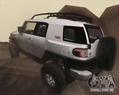 Toyota FJ Cruiser 2012 para GTA San Andreas vista superior