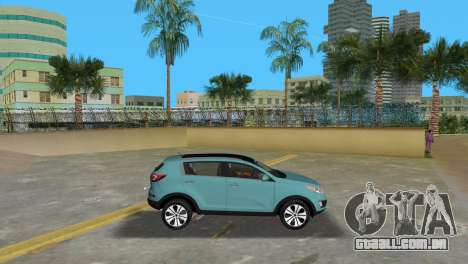 Kia Sportage para GTA Vice City deixou vista