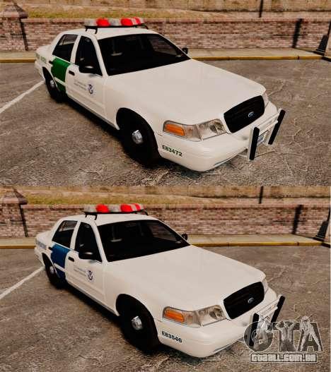 Ford Crown Victoria 1999 U.S. Border Patrol para GTA 4 vista interior