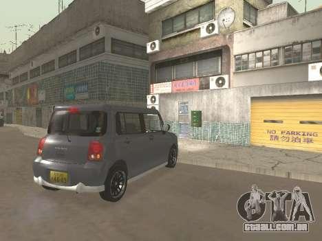 Suzuki Alto Lapin para GTA San Andreas vista superior