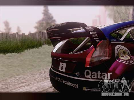 Ford Fiesta RS WRC 2013 para GTA San Andreas vista superior