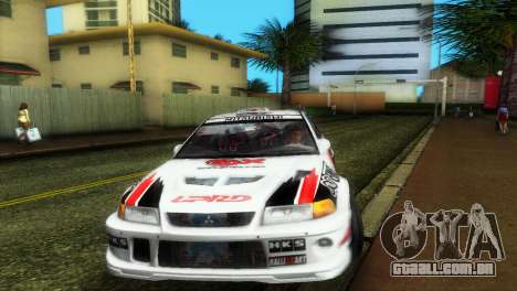 Mitsubishi Lancer Rally para GTA Vice City vista traseira