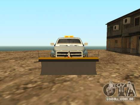 Dodge Ram para GTA San Andreas vista interior