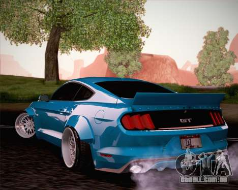 Ford Mustang Rocket Bunny 2015 para GTA San Andreas vista interior
