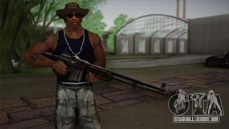 Browning M1918 para GTA San Andreas terceira tela