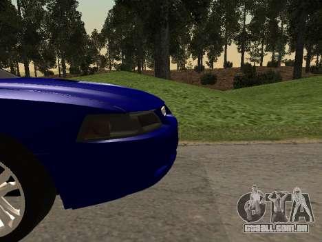 Ford Mustang GT 1999 para GTA San Andreas vista traseira