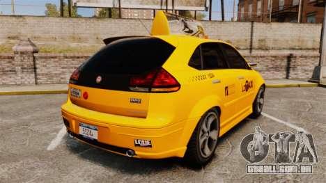 Habanero Taxi para GTA 4 traseira esquerda vista