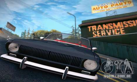 GAZ Volga 24 Cabriolet para GTA San Andreas vista interior