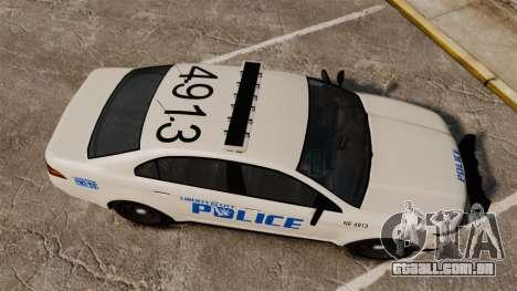GTA V Vapid Police Interceptor LCPD [ELS] para GTA 4 vista direita
