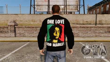 Camisola-Bob Marley- para GTA 4 segundo screenshot
