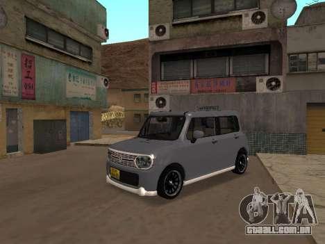Suzuki Alto Lapin para GTA San Andreas esquerda vista