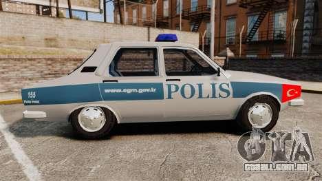 Renault 12 Turkish Police para GTA 4 esquerda vista