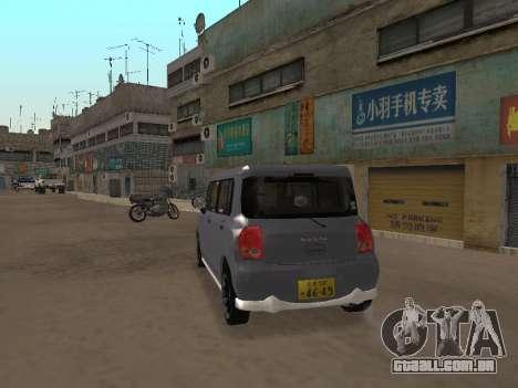 Suzuki Alto Lapin para GTA San Andreas vista direita