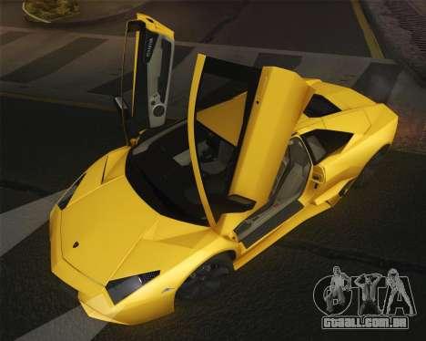 Lamborghini Reventon 2008 SLOD para GTA San Andreas vista direita