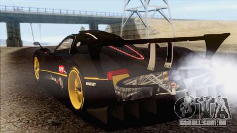 Pagani Zonda R SPS v3.0 Final para GTA San Andreas esquerda vista