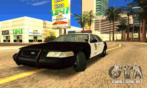 Ford Crown Victoria Police LV para GTA San Andreas esquerda vista