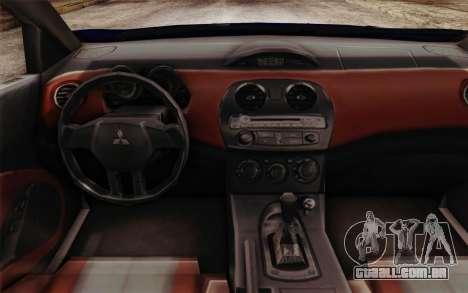 Mitsubishi Eclipse GT v2 para GTA San Andreas vista direita