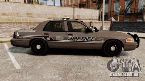 Ford Crown Victoria 2008 Sheriff Patrol [ELS] para GTA 4 esquerda vista
