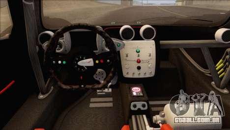 Pagani Zonda R SPS v3.0 Final para GTA San Andreas vista interior