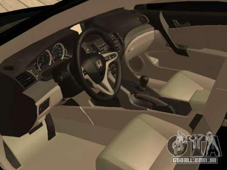 Honda Accord 2010 V2.0 para GTA San Andreas vista direita