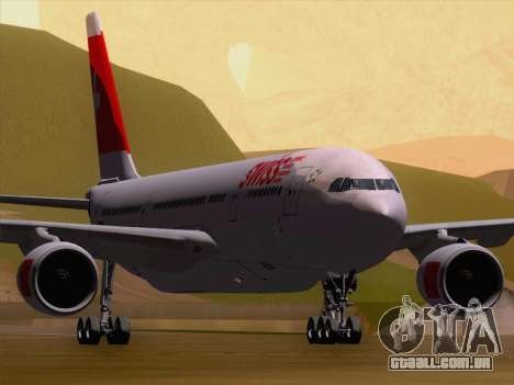 Airbus A330-223 Swiss International Airlines para GTA San Andreas esquerda vista
