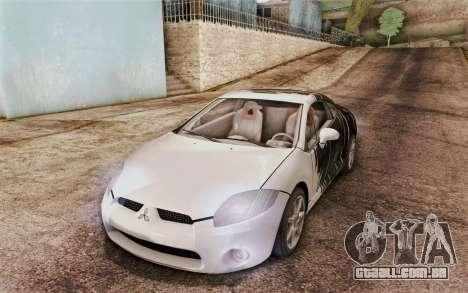 Mitsubishi Eclipse GT v2 para GTA San Andreas vista traseira