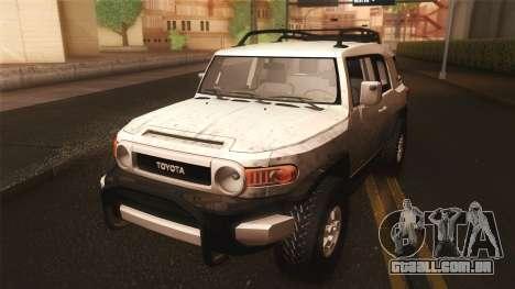 Toyota FJ Cruiser 2012 para GTA San Andreas vista interior