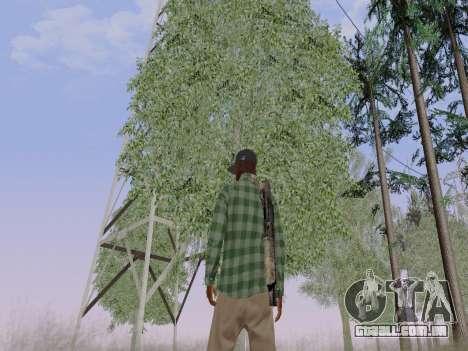 O membro da gangue Grove Street de GTA 5 para GTA San Andreas sexta tela