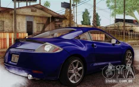 Mitsubishi Eclipse GT v2 para GTA San Andreas esquerda vista