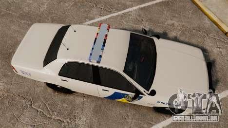 GTA V Vapid State Police Cruiser [ELS] para GTA 4 vista direita