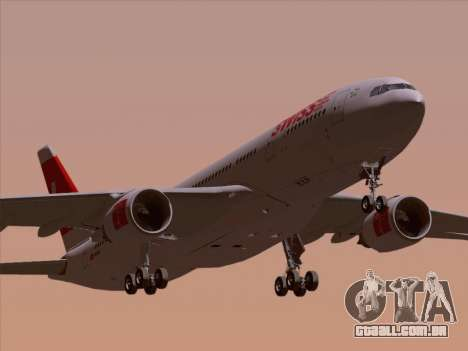 Airbus A330-223 Swiss International Airlines para GTA San Andreas vista superior