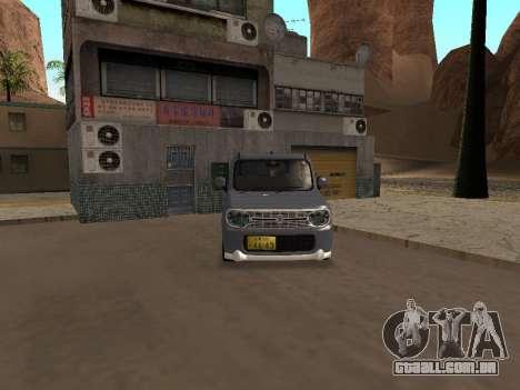 Suzuki Alto Lapin para GTA San Andreas traseira esquerda vista