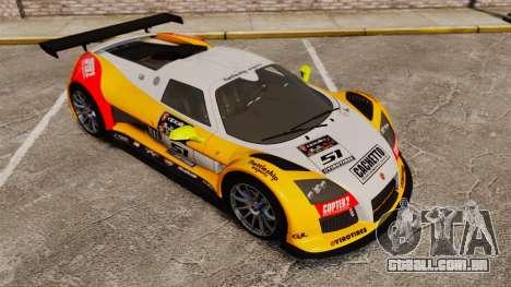 Gumpert Apollo S 2011 para GTA 4 vista inferior