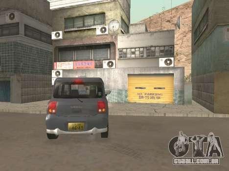 Suzuki Alto Lapin para vista lateral GTA San Andreas