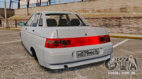 VAZ-2110 para GTA 4 traseira esquerda vista