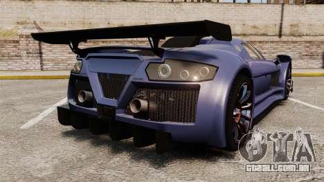 Gumpert Apollo S 2011 para GTA 4 traseira esquerda vista