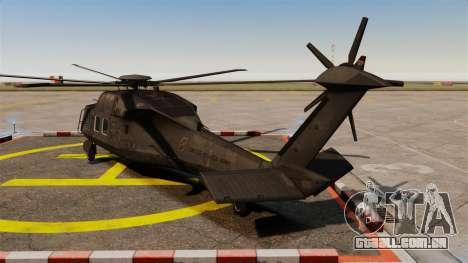 Sikorsky MH-X Silent Hawk [EPM] para GTA 4 traseira esquerda vista