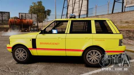 Range Rover Vogue Brannvesenet para GTA 4 esquerda vista