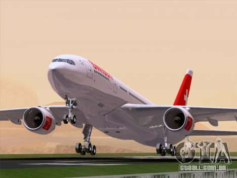 Airbus A330-223 Swiss International Airlines para vista lateral GTA San Andreas