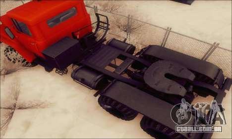 KrAZ 260v para GTA San Andreas vista interior