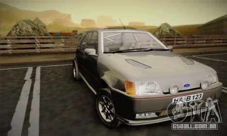 Ford Fiesta Mk3 XR2i para GTA San Andreas esquerda vista