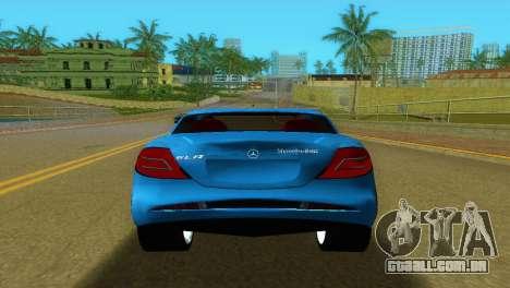 Mercedes-Benz SLR McLaren para GTA Vice City vista traseira